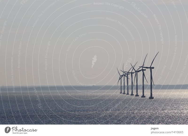 energyrevolution Natur blau Wasser Umwelt Küste grau Energiewirtschaft Luft Wind Zukunft Klima Sauberkeit Unendlichkeit Ostsee Windkraftanlage Wissenschaften