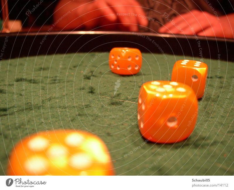 Pokerwürfel gelb Würfel Dinge