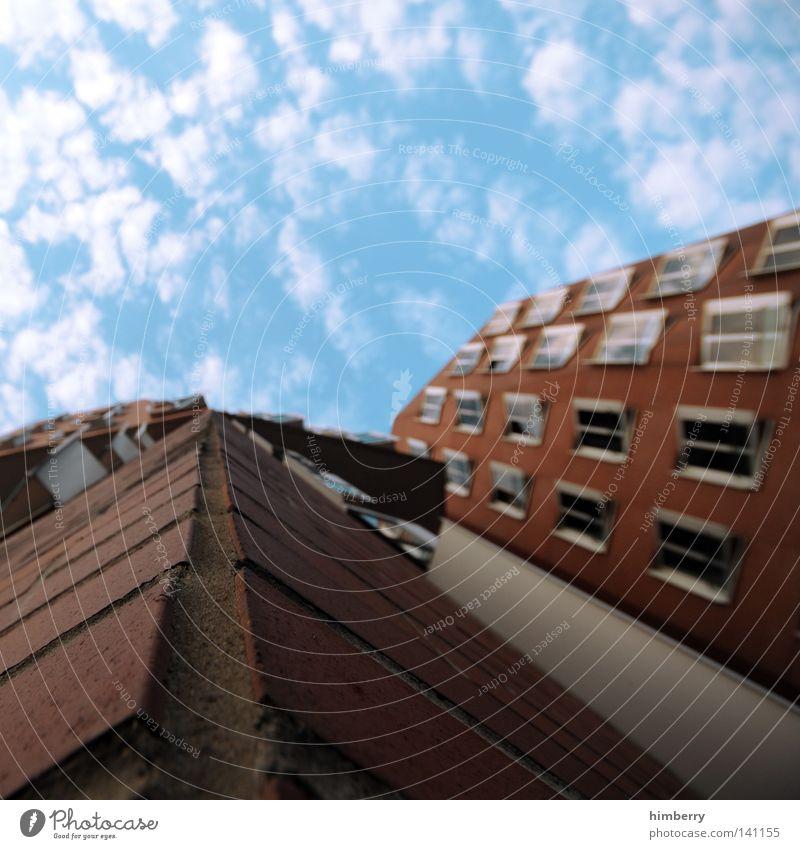 detail am kai rot Haus kalt Fenster Wand Architektur Stil Mauer Stein Gebäude Arbeit & Erwerbstätigkeit Tür Fassade modern Perspektive