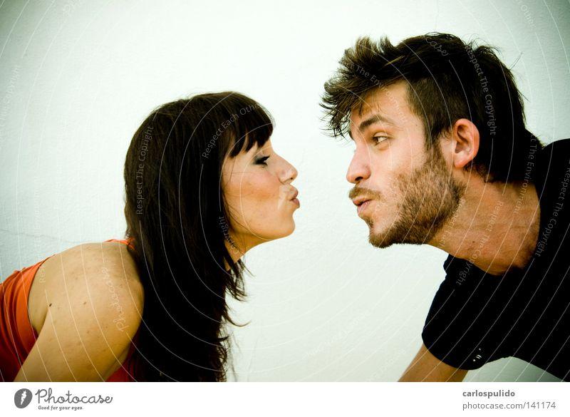 Freude Liebe lustig Paar Küssen Liebespaar Eros