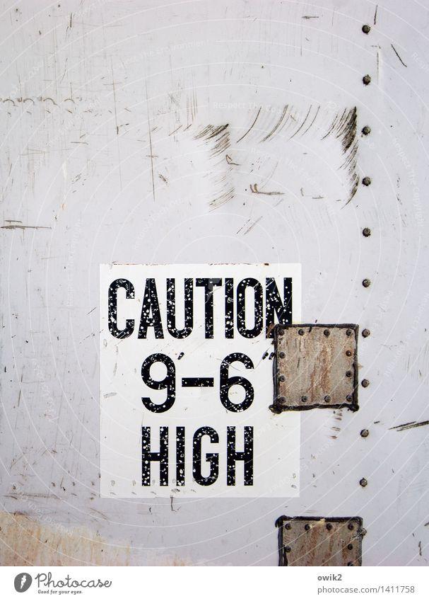 Pi mal Daumen Technik & Technologie Metall Schriftzeichen Ziffern & Zahlen Hinweisschild Warnschild Information Englisch achtsam Warnhinweis Warnung