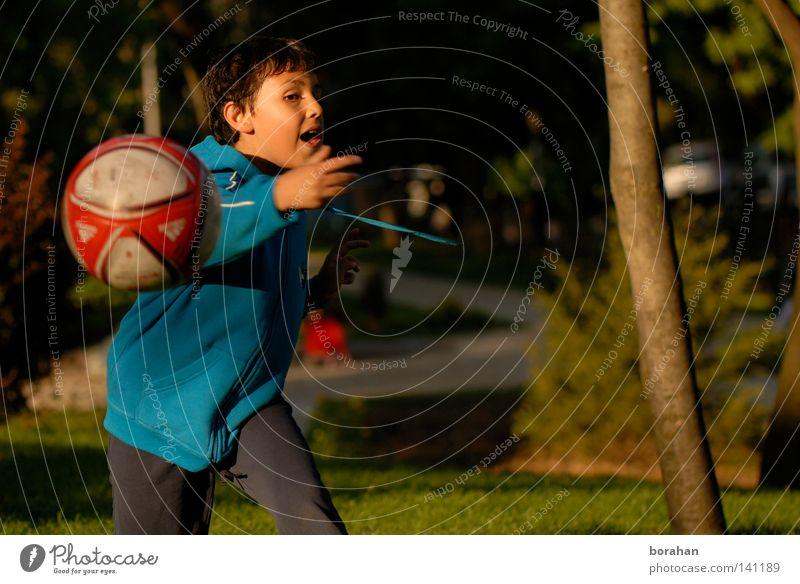 Ball & Kinder Junge Mensch Fußball Park Jungen junge Leute