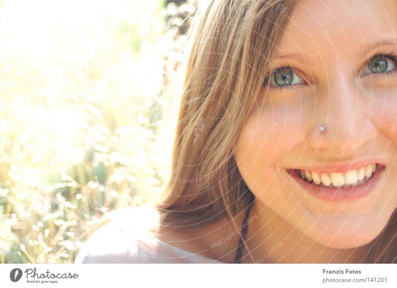 Spannung Sommer Silhouette lachen Elektrizität Freude Profil Sonne