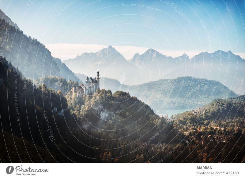 Autumn day in the Allgäu Natur Ferien & Urlaub & Reisen Pflanze blau grün Sonne Landschaft ruhig Berge u. Gebirge Umwelt Herbst Stein Deutschland Felsen Nebel