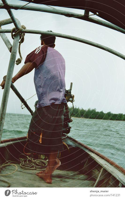 Ruhe vor dem Sturm Thailand Ferien & Urlaub & Reisen Abenteuer Wasserfahrzeug Asien Erholung Regen