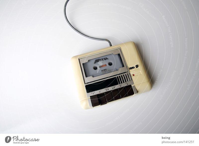 5/85 Technik & Technologie Pause Kabel Information stoppen Schnur E-Mail Musikkassette Gerät Entertainment Erbe Hardware Zähler Datenträger
