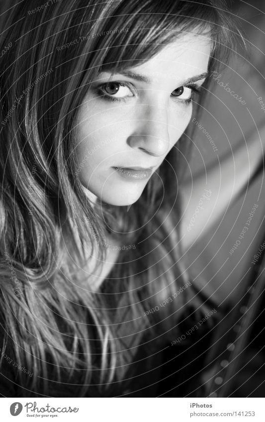 glamROCK Frau schön Gesicht Auge Einsamkeit Spielen Stil Musik Haare & Frisuren Kopf Mund blond Nase Kraft gefährlich Lippen