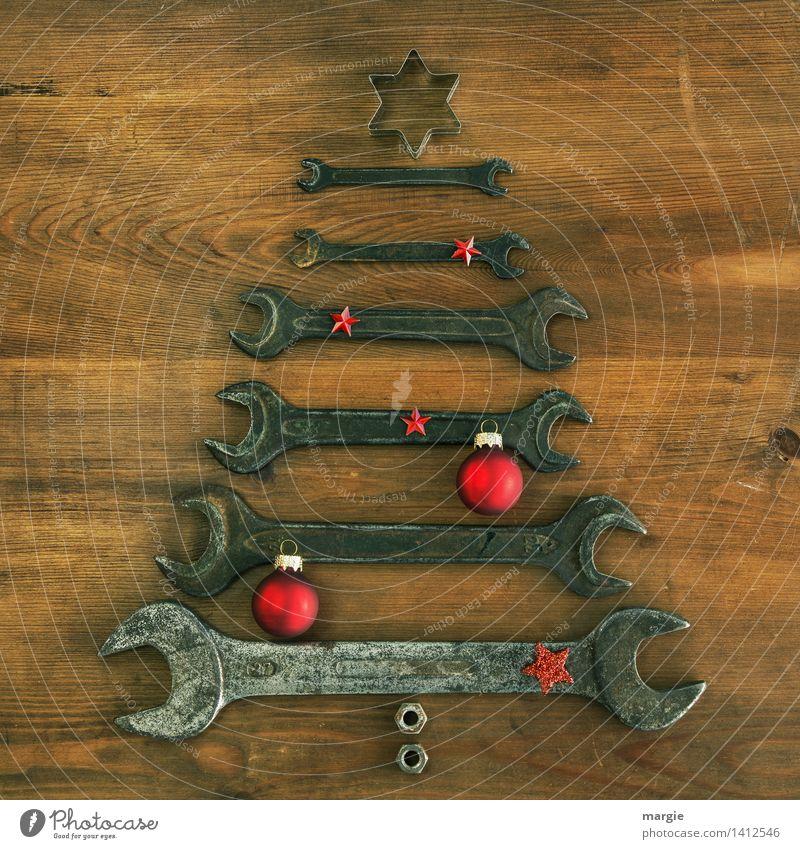 Weihnachtsbaum in rot Freizeit & Hobby Basteln Feste & Feiern Weihnachten & Advent Beruf Handwerker Dienstleistungsgewerbe Werkzeug Technik & Technologie Holz