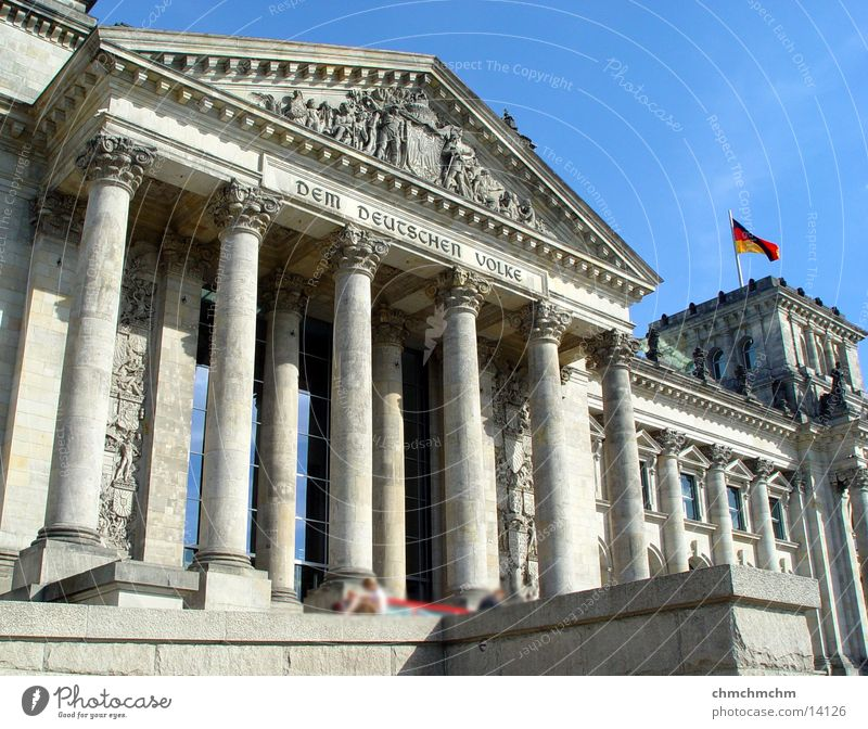 centre_of_politics Portal Politik & Staat Architektur Deutscher Bundestag Berlin Säule Hauptstadt
