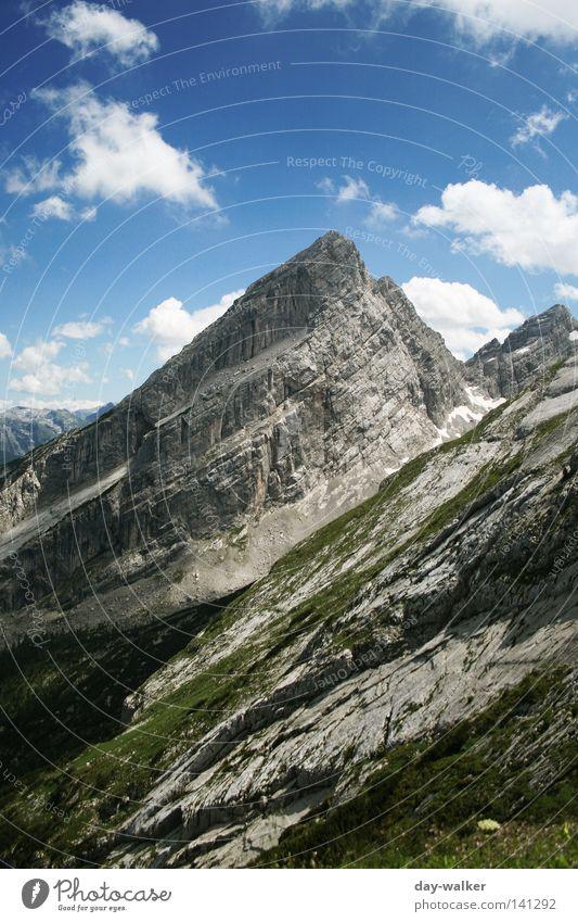 Der Watzmann Natur Himmel Ferien & Urlaub & Reisen Wolken Wiese Berge u. Gebirge wandern Felsen Klettern Alpen Gipfel Bayern Berchtesgaden Gletscher Tal Oberbayern