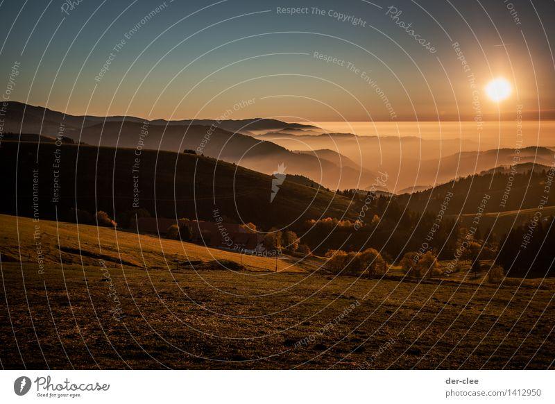 Inversion! #2 Himmel Natur Sonne Erholung Landschaft ruhig Tier Berge u. Gebirge Umwelt Herbst Wiese Denken außergewöhnlich Erde Horizont träumen