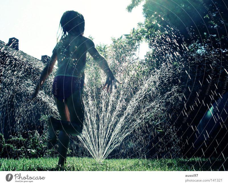 Funkenregen III Wasser Sonne Ferien & Urlaub & Reisen Garten Park rein Sommerferien Gartenschlauch Rasensprenger