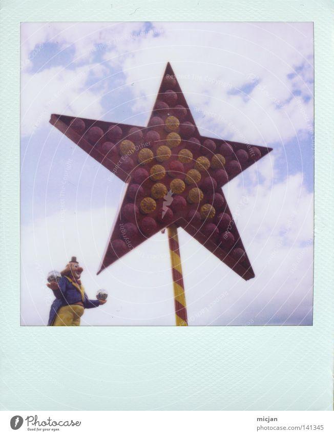 HH08.2 - Starcatcher Clown Stern (Symbol) Jahrmarkt Lampe Glühbirne Veranstaltungsbeleuchtung Beleuchtung schick schön 5 jonglieren fangen Polaroid analog