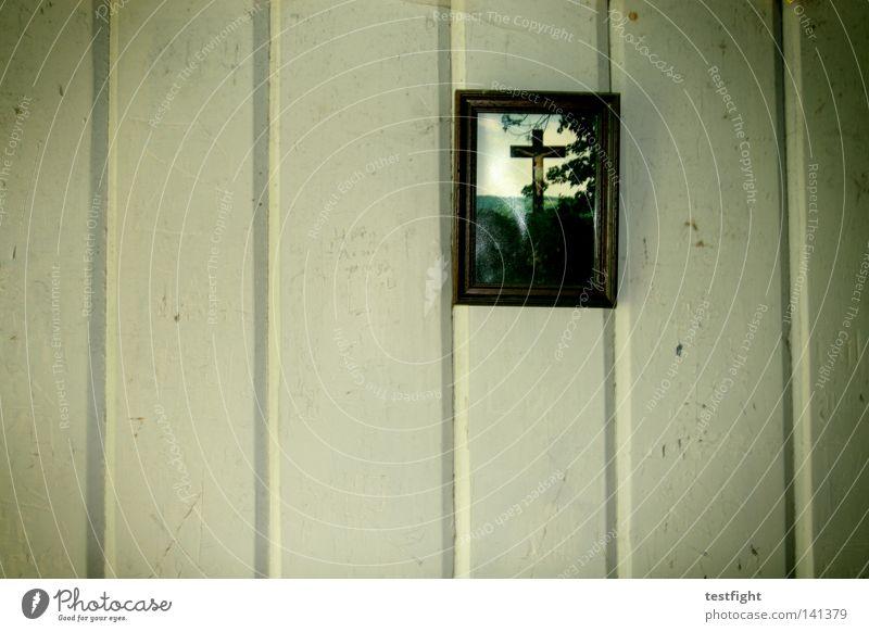 heiligenbild Wand Holzwand Jesus Christus Katholizismus Glaube Christentum Berge u. Gebirge Bild Rahmen Rücken erzkatholisch Raum