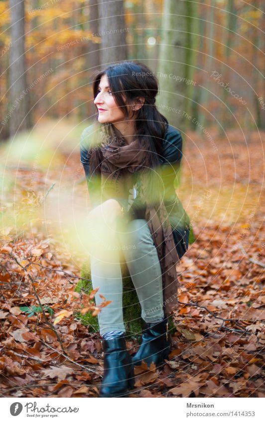 Ruhe Mensch Frau Erwachsene Mutter 1 30-45 Jahre natürlich Glück Zufriedenheit Vorfreude Schutz Geborgenheit dankbar Neugier demütig dunkelhaarig langhaarig