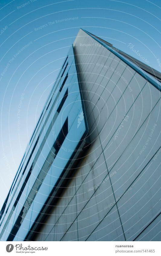 Aede Fenster Gebäude Bürogebäude Himmel Haus Feuerstelle Haushalt Modernismus modern Wohnung blau Architektur