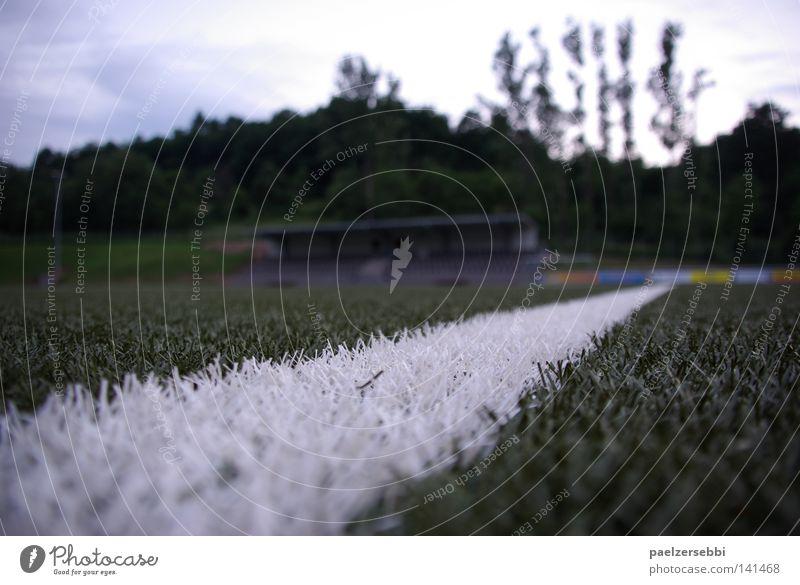 Die Wahrheit liegt auf dem Platz grün Sport Linie Fußball Aussicht Sportrasen Akrobatik Ballsport bodenständig