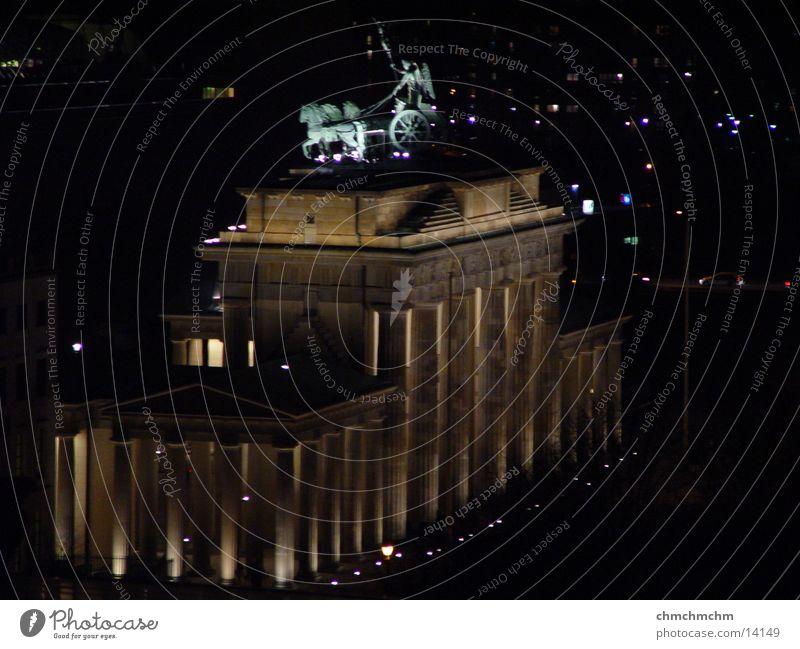 brandenburger_gate Himmel dunkel Berlin historisch Brandenburger Tor