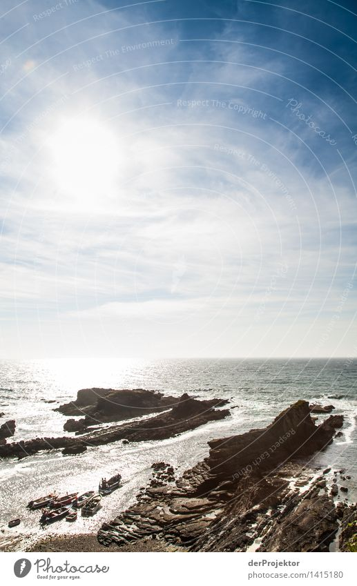 Verzahntes Meer Natur Ferien & Urlaub & Reisen Pflanze Sommer Meer Landschaft Tier Ferne Strand Umwelt Gefühle Küste Freiheit Felsen Tourismus Wellen