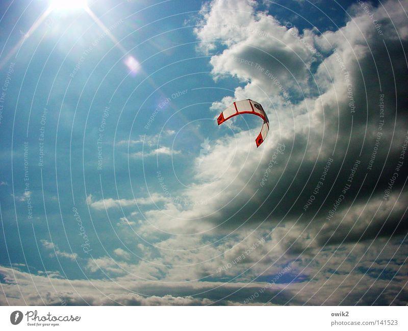 Sonnensegel Himmel Ferien & Urlaub & Reisen Sommer Einsamkeit Wolken Farbe Sport Spielen See Luft Deutschland Wind Freizeit & Hobby Geschwindigkeit genießen