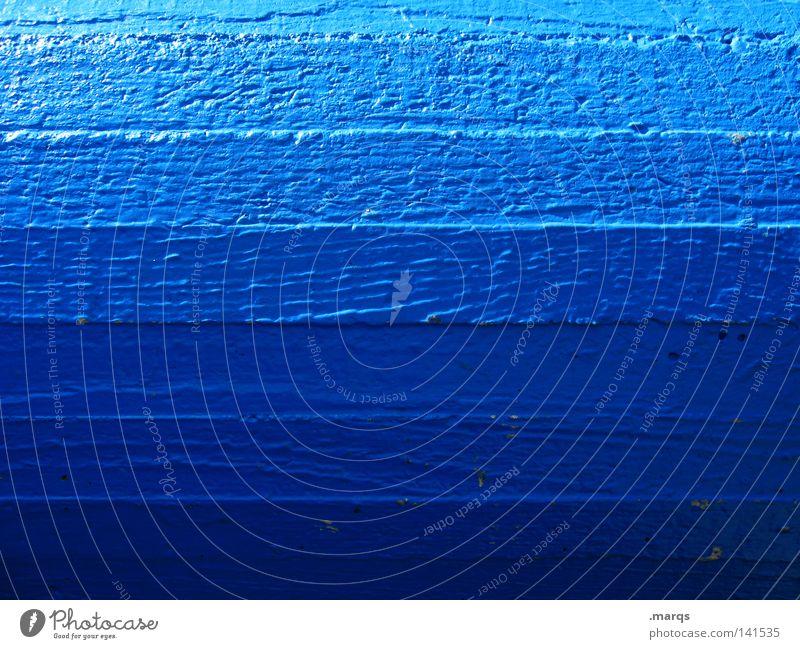 Blaublaublau Farbe Linie Beton obskur Säule Verschiedenheit Oberfläche Verlauf Übergang Lichteinfall hell-blau Abstufung
