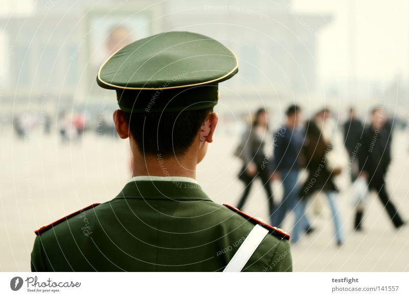 himmlischer frieden Mensch Tod Bewegung Platz Tourismus offen stehen Student beobachten Gewalt Mitte China Quadrat Verkehrswege Stadtzentrum Tourist