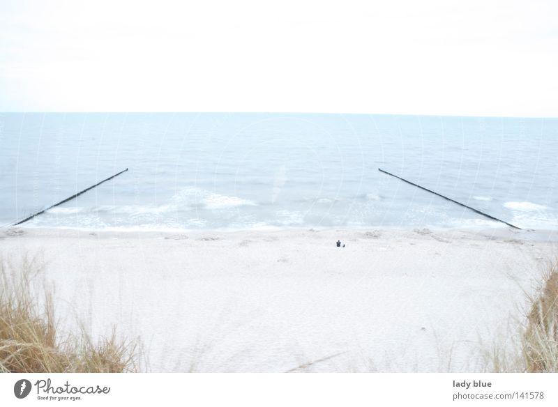 Ruhe Meer Sommer Strand Ferien & Urlaub & Reisen ruhig Gras Freiheit hell Wellen Küste warten Deutschland frei Insel Frieden Freizeit & Hobby