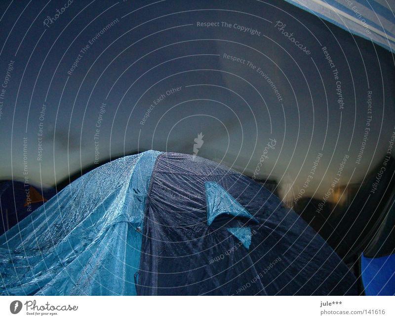 campingstimmung Wassertropfen Freizeit & Hobby Abenddämmerung Musikfestival Orkan Campingplatz