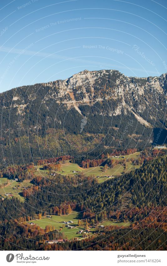 Kehlsteinhaus Landschaft Herbst Schönes Wetter Felsen Alpen Berge u. Gebirge Gipfel Schneebedeckte Gipfel Berchtesgaden Berchtesgadener Alpen Sehenswürdigkeit