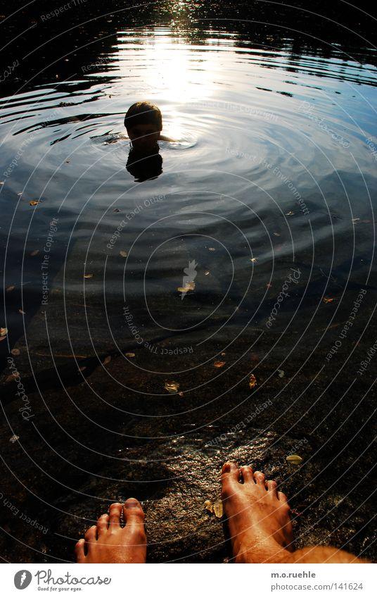 """""""halte dich fern und komm!"""" Wasser Sommer Sonne Einsamkeit Spielen Traurigkeit See Schwimmen & Baden Zusammensein Elektrizität Neugier Vertrauen Leidenschaft"""