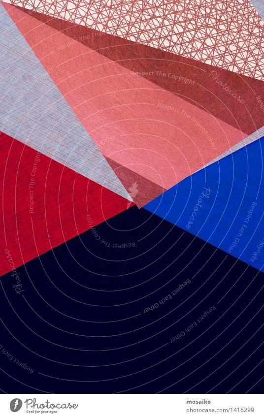 Abstrakt blau Farbe rot Bewegung Stil Hintergrundbild Kunst Lifestyle braun Linie Design elegant modern ästhetisch verrückt Papier