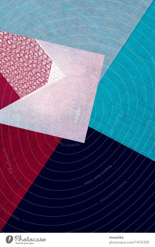 Abstrakt blau Farbe rot Stil Hintergrundbild Lifestyle Design elegant Textfreiraum ästhetisch Spitze Idee Papier Grafik u. Illustration graphisch Sturz