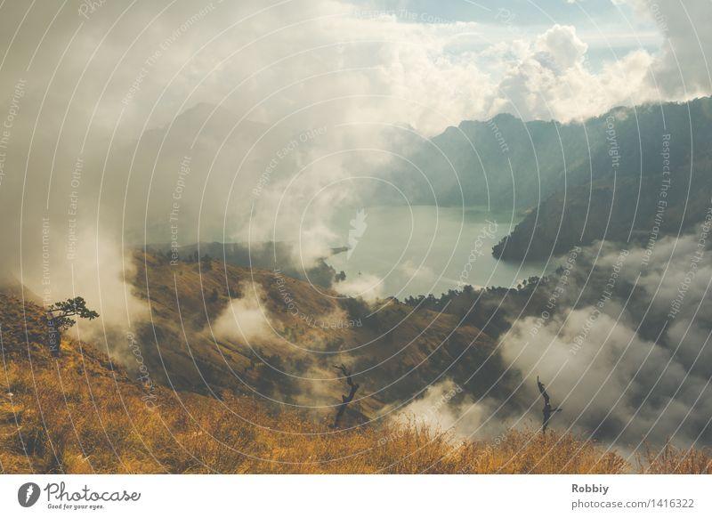 Vulkansee Mt. Rinjani Natur Ferien & Urlaub & Reisen Wasser Erholung Landschaft Ferne Berge u. Gebirge Umwelt Freiheit See Tourismus Freizeit & Hobby wandern
