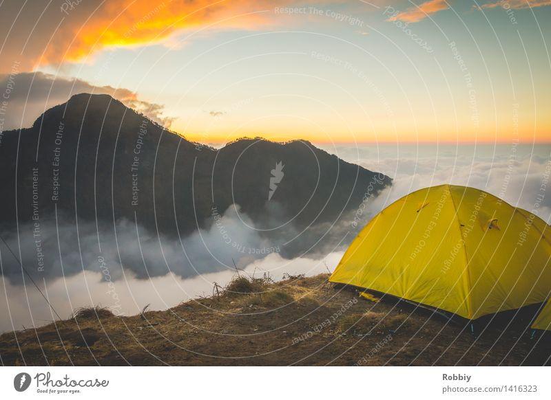 Schlafplatz in der ersten Reihe Himmel Natur Ferien & Urlaub & Reisen Erholung Landschaft Einsamkeit Wolken Ferne Berge u. Gebirge Umwelt Wege & Pfade Freiheit