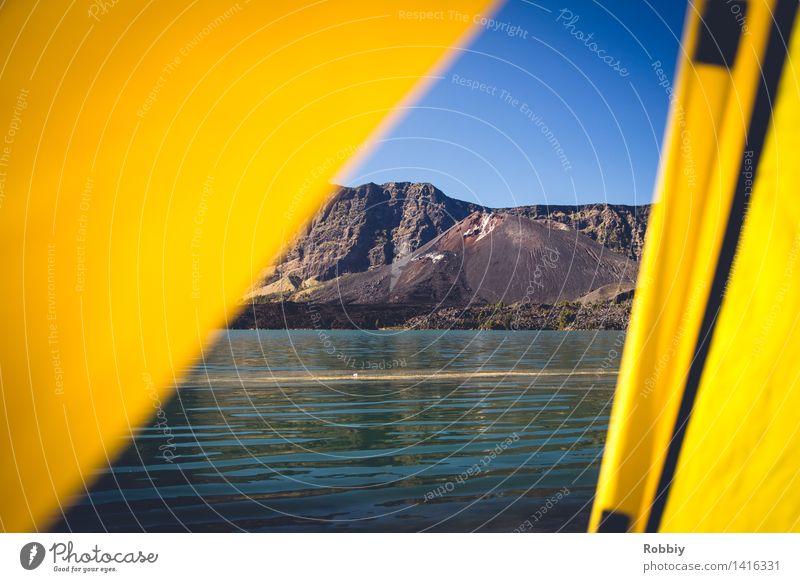 vulkanisierender Ausblick Natur Ferien & Urlaub & Reisen Erholung Landschaft Ferne Berge u. Gebirge Umwelt Freiheit See Tourismus wandern Idylle Ausflug Klima