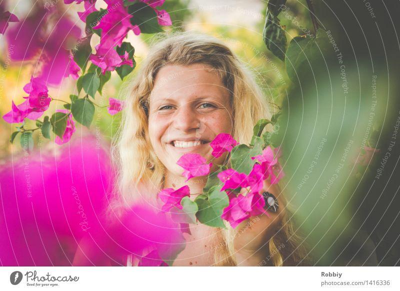 Magenta steht doch jedem Natur Ferien & Urlaub & Reisen Jugendliche Pflanze schön Sommer Junge Frau Baum Blume Erholung 18-30 Jahre Erwachsene Umwelt Blüte