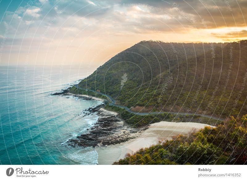 Great Ocean Road Natur Ferien & Urlaub & Reisen Meer Landschaft Ferne Strand Berge u. Gebirge Umwelt Straße Wege & Pfade Bewegung Küste Freiheit Tourismus