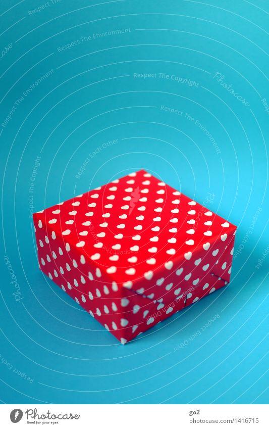 Es kommt von Herzen kaufen Valentinstag Muttertag Weihnachten & Advent Geburtstag Geschenk Geschenkpapier Verpackung Karton ästhetisch Fröhlichkeit blau rot