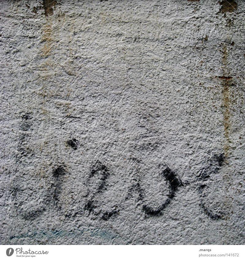 Alte Liebe Mensch Wand Graffiti Gefühle Glück Zusammensein dreckig Schriftzeichen süß Buchstaben Romantik Kommunizieren Wunsch Symbole & Metaphern streichen