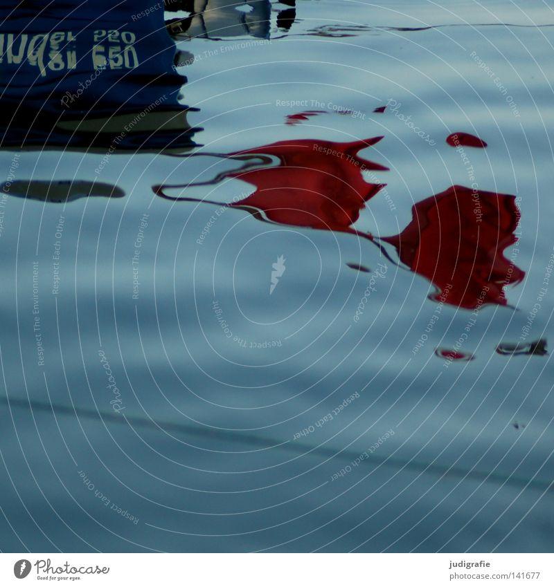 Hafen Wasser Wasserfahrzeug Fischerboot Angeln Fischereiwirtschaft maritim Anker Befestigung Abend Abendsonne träumen Unschärfe Reflexion & Spiegelung