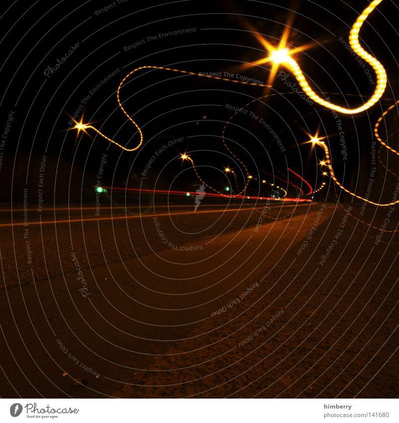 tunnel rave Farbe Straße Bewegung PKW Verkehr Schilder & Markierungen Geschwindigkeit Perspektive Beton Eisenbahn fahren Spuren Straßenbeleuchtung Licht