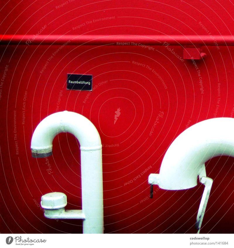 pipe dream rot Wasserfahrzeug 2 offen Industrie Hinweisschild Hafen Geländer Logo Halfpipe Belüftung