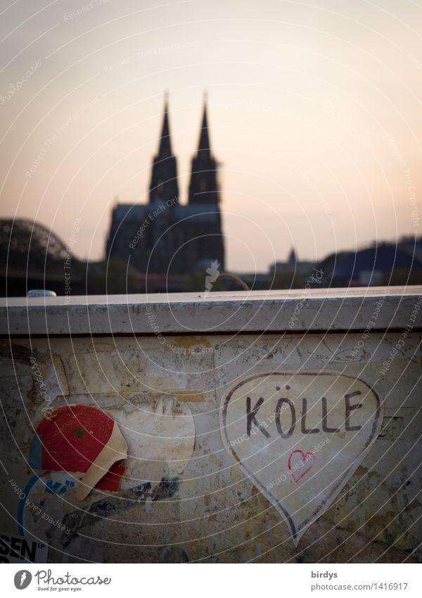 Kölle für Liebhaber Ferien & Urlaub & Reisen Stadt Freude Wand Mauer Lifestyle Feste & Feiern außergewöhnlich Zusammensein Tourismus Herz Lebensfreude Zeichen