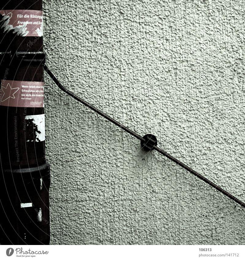 Betreff: Dein Foto wurde leider nicht bestätigt. alt weiß Farbe Wand Bewegung Stil Mauer Metall Linie braun Hintergrundbild dreckig Elektrizität kaputt Kabel