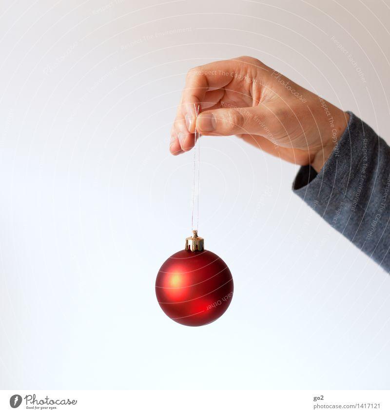 Zum Kugeln Mensch Weihnachten & Advent Hand rot Erwachsene Design Dekoration & Verzierung ästhetisch Finger festhalten Kitsch Handel Vorfreude Christbaumkugel