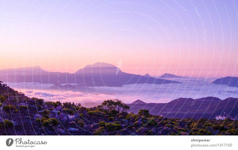Sunset at Piton de La Fournaise Ferien & Urlaub & Reisen Tourismus Ausflug Abenteuer Ferne Expedition Sommer Sommerurlaub Insel Berge u. Gebirge wandern Explore