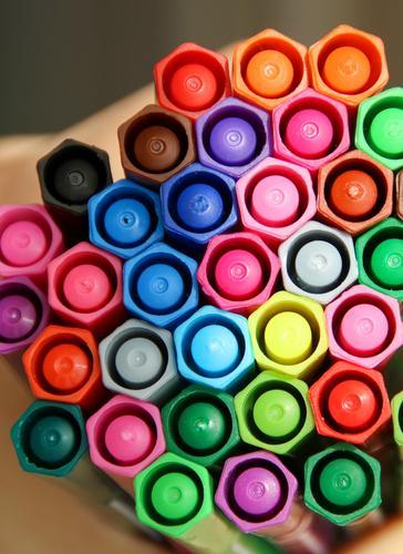 Buntstiftwabe Spielen Büro frisch Sammlung Farbstift Wabe Filzstift Wabenmuster