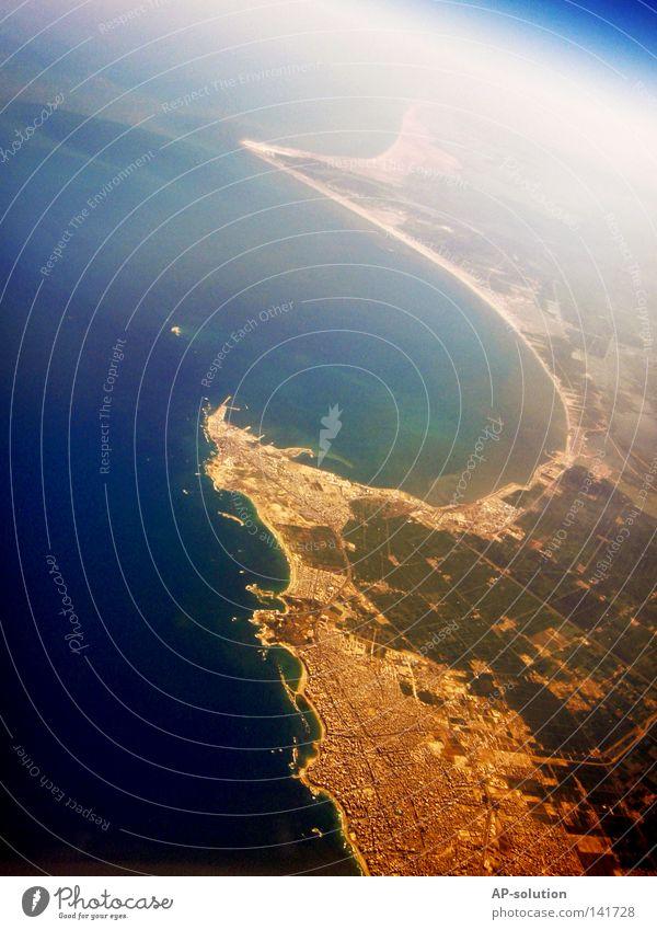 Alexandria Ägypten Afrika Nordafrika Erde Luftaufnahme Geografie Landkarte Amerika Länder Vogelperspektive fliegen Flugzeug Aussicht Physik