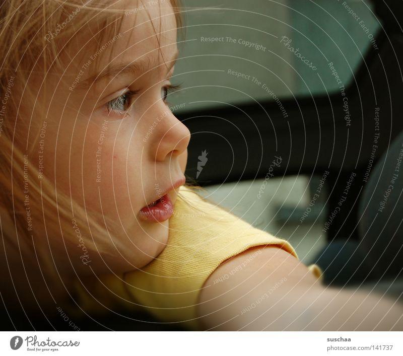 lovely Mensch Kind Mädchen schön Gesicht Auge Leben Haare & Frisuren Mund Nase süß Neugier Vergangenheit Gesichtsausdruck Wange
