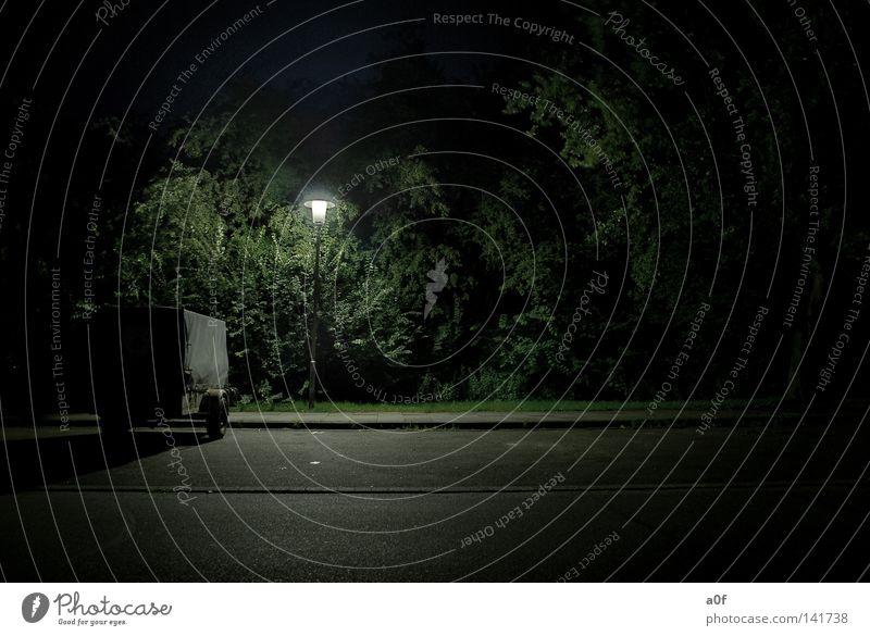 mystic Nacht Laterne Straßenbeleuchtung Elektrizität unterwegs Trauer Einsamkeit Rettung Licht Himmelskörper & Weltall Angst